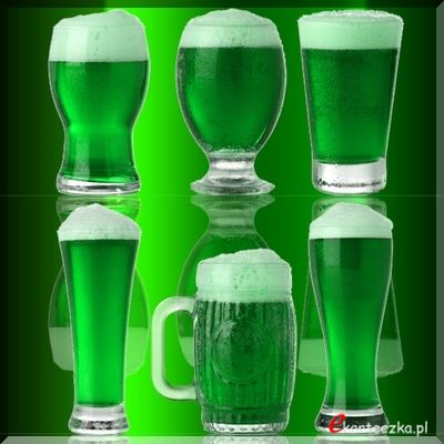 Happy Saint Patricks day beer green